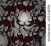 classic seamless pattern.... | Shutterstock . vector #632118356