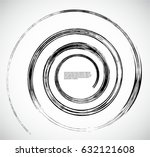 spiral logo with lines. swirl... | Shutterstock .eps vector #632121608