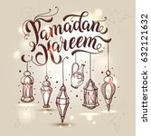 ramadan kareem illustration... | Shutterstock .eps vector #632121632