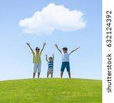 happy summer vacation for kids... | Shutterstock . vector #632124392