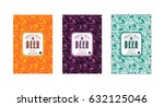 set of seamless pattern and... | Shutterstock .eps vector #632125046