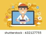 stock vector illustration... | Shutterstock .eps vector #632127755