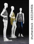 Three Mannequin Female Dressed...