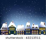 winter town | Shutterstock .eps vector #63213511