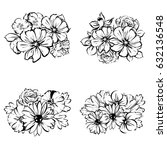 flower set | Shutterstock . vector #632136548