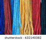 indonisia necklace beads. | Shutterstock . vector #632140382