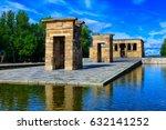 the temple of debod  templo de...   Shutterstock . vector #632141252