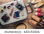 clothing traveler's passport ... | Shutterstock . vector #632151026
