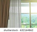 curtain and window interior... | Shutterstock . vector #632164862