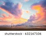 majestic cloud sky beside the...   Shutterstock . vector #632167106