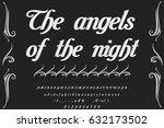 font handcrafted vector script... | Shutterstock .eps vector #632173502