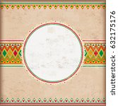 vintage background with mexican ... | Shutterstock .eps vector #632175176
