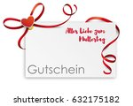 german text gutschein alles... | Shutterstock .eps vector #632175182