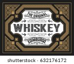 vintage card for whiskey or... | Shutterstock .eps vector #632176172