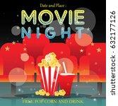 movie poster event for festival ... | Shutterstock .eps vector #632177126