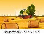 vector illustration of rural... | Shutterstock .eps vector #632178716