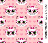 seamless pattern with cute... | Shutterstock .eps vector #632178722