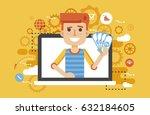stock vector illustration man... | Shutterstock .eps vector #632184605