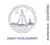 traveling horizontal banner... | Shutterstock .eps vector #632185082