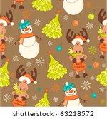seamless baby christmas... | Shutterstock .eps vector #63218572