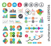 business charts. growth graph.... | Shutterstock .eps vector #632189036