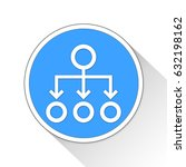 org chart button icon business... | Shutterstock . vector #632198162