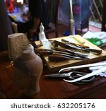 equipment for carve   many kind ... | Shutterstock . vector #632205176