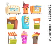 fair and market street food and ... | Shutterstock .eps vector #632206052