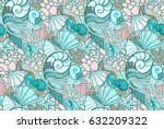 Seamless Texture Blue Sea Shel...