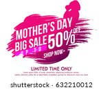 mothers day sale text colorful... | Shutterstock .eps vector #632210012