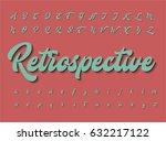 retro styled character set ... | Shutterstock .eps vector #632217122