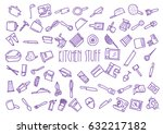 pattern of sixty nine kitchen... | Shutterstock .eps vector #632217182