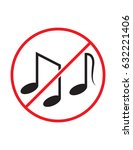 music not allowed black red and ... | Shutterstock .eps vector #632221406