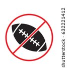 rugby not allowed black red and ... | Shutterstock .eps vector #632221412