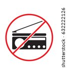 radio not allowed black red and ... | Shutterstock .eps vector #632222126
