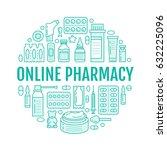 medical  drugstore poster... | Shutterstock .eps vector #632225096
