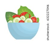 salad bowl icon | Shutterstock .eps vector #632227046