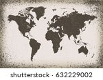 Grunge World Map.old Map Of The ...