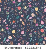 colorful seamless floral... | Shutterstock .eps vector #632231546