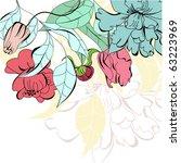 romantic floral background   Shutterstock .eps vector #63223969