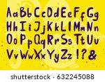 vector set of alphabet hand... | Shutterstock .eps vector #632245088