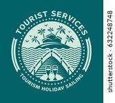 logo design emblem for tourism... | Shutterstock . vector #632248748