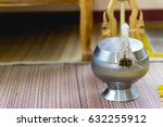 silver thai buddhist monk's... | Shutterstock . vector #632255912