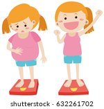 losing weight theme with fat... | Shutterstock .eps vector #632261702