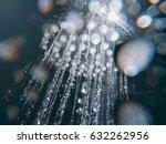 shower head with flow of water... | Shutterstock . vector #632262956
