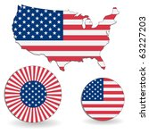 the american flag and map on a... | Shutterstock .eps vector #63227203