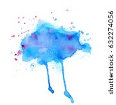 colorful abstract watercolor... | Shutterstock .eps vector #632274056