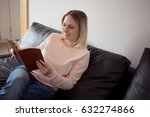 young woman with notepad.... | Shutterstock . vector #632274866