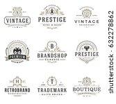 luxury monogram logos templates ... | Shutterstock .eps vector #632278862