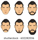 a lot of faces of menes with... | Shutterstock . vector #632282036